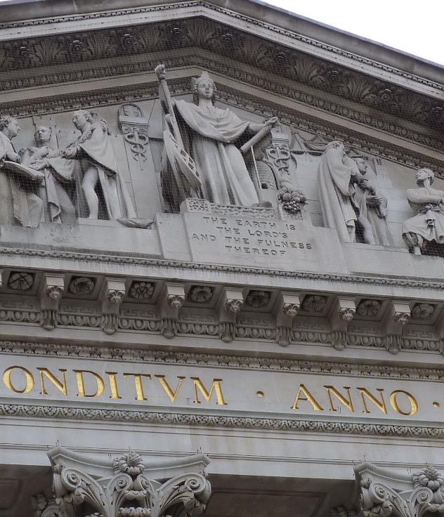 Detail from the exterior of The Royal Exchange, London