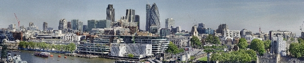 Panorama taken from London's Living Room, City Hall, May 2010